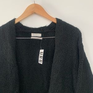 Urban Outfitters New Black Cozy Cardigan  XS